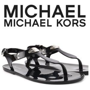 MK Michael Kors Black Sandals